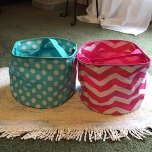2 for 1 price small storage baskets with handles
